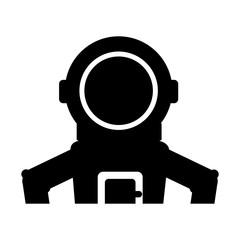 astronaut comic character icon vector illustration design