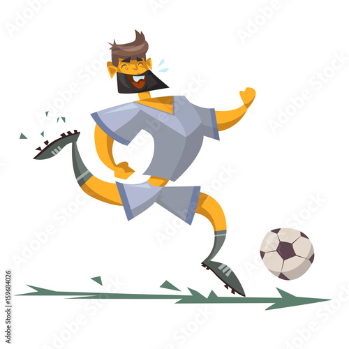 cartoon character of a soccer player - 159684026
