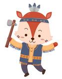 Mascot Fox Native American Indian