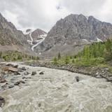 Aktru River. Altai Mountains landscape