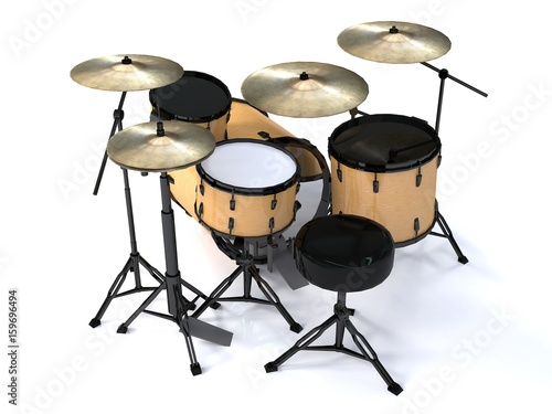 tambores-con-textura-de-madera-3d-rendering-perspectiva-3