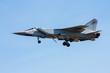 Fighter plane in a blue sky