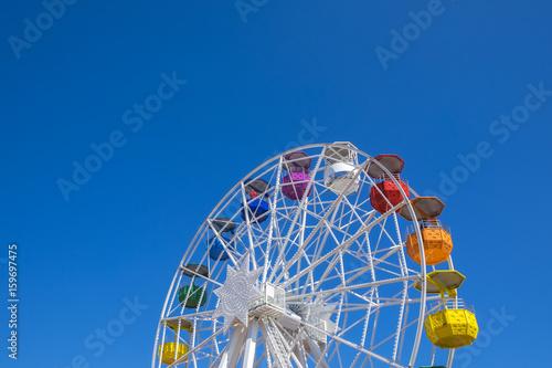 Ferry wheel at Tibidabo amusement park,