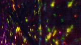 Fireworks on pixelated LED panel shallow DOF