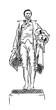 Hand drawn sketch of Alexander Hamilton Statue in vector illustration.