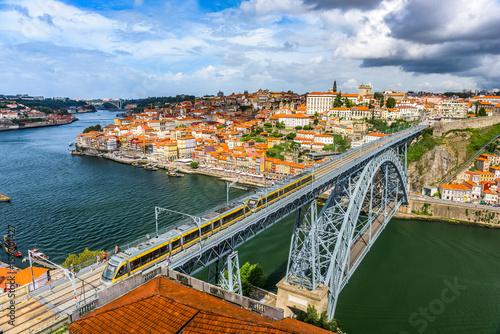 Porto, Portugal Skyline and bridge. Poster
