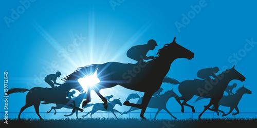 cheval - cheval de course - course hippique - champ de course - jockey © pict rider