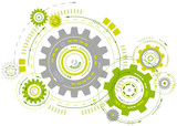 Linked Cogwheels Design - 159715034