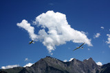Planes in the mountains Alps