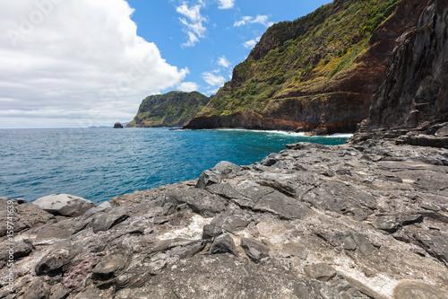 Green coastline of Madeira Poster