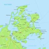 Rügen Karte - Grün - 159748857