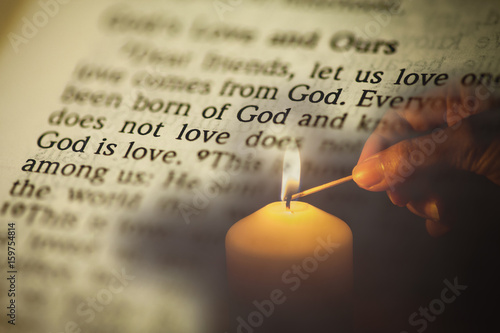 "The Bible has a message "" GOD IS LOVE"" , very short depth of field Poster"