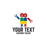 Robot Icon  Logo Element Wall Sticker