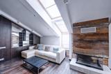 Modern apartment interior in loft style.Living room interior. - 159759875