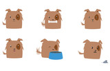 Cute Puppy Vector Set