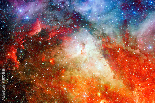 Beautiful nebula with stars. Elements of this image furnished by NASA. - 159774888