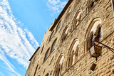 old wall of ancient italian city  Volterra