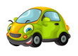 Cartoon sports car smiling and looking - illustration for children