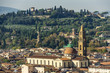 Basilica of the Holy Spirit and surrounding hills. Florence, Italy, Europe