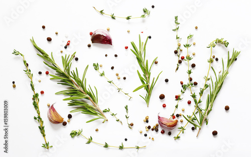 Herbs and spices - background for cooking © dream79