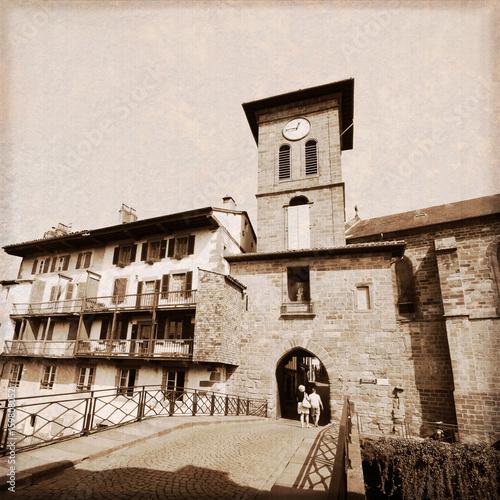 Saint Jean Pied de Port (France) - Effet photo ancienne