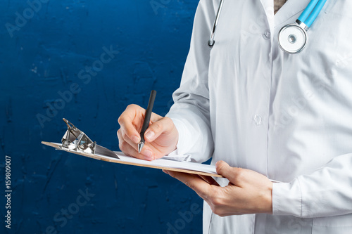 Hands of medical doctor
