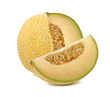 Galia melon cut from whole isolated