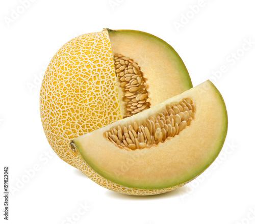 Galia melon cut from whole isolated