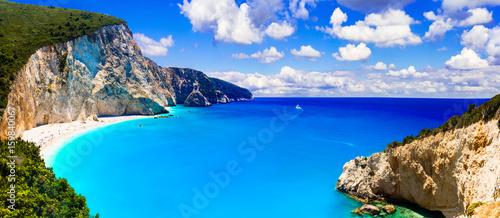 Fotobehang Freesurf One of the most beautiful beaches of Greece- Porto Katsiki in Lefkada