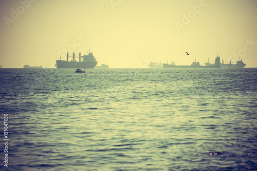 Ships in Istanbul Poster