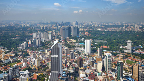 Aerial view of Kuala Lumpur in the morning