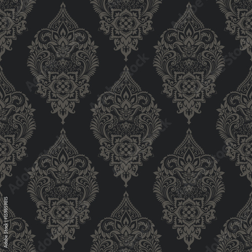 Vector damask seamless pattern - 159859815