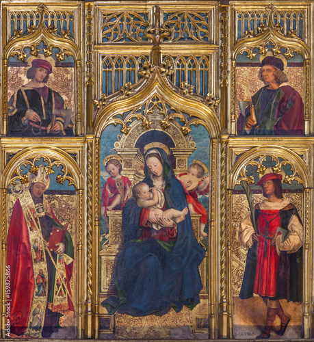 TURIN, ITALY - MARCH 13, 2017: The painting of The Nursing Madonna in Duomo on the altar by Defendente Ferrari (1511 - 1535). © Renáta Sedmáková