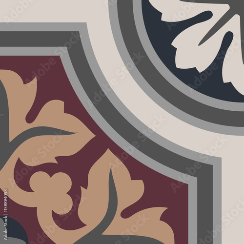 Handmade encaustic cement tile. Vector EPS 10 - 159894058