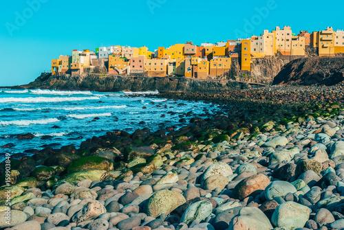 Coastal village of Costa Gran Canaria Poster