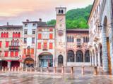 Piazza Marc Antonio Flaminio in Serravalle, Vittorio Veneto. Italy - 159910001