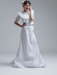 Portrait of beautiful young women in wedding dress