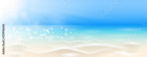 beach background vector - 159946646
