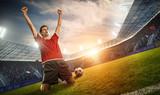 jubelnder Fußballspieler - 159951846
