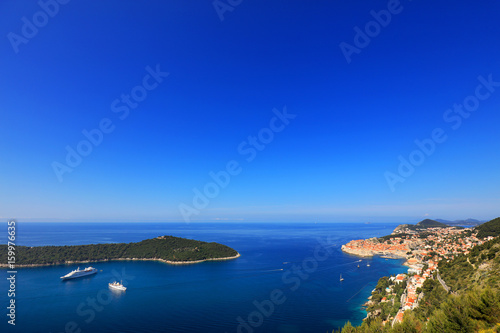 Foto op Aluminium Donkerblauw Dubrovnik resort in Croatia, Europe