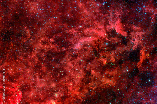 Red galaxy. Elements of this image furnished by NASA. Poster