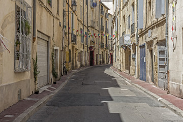 Malerische Gasse in Montpellier, Südfrankreich