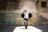 Hip hop dancer performing outdoors - 160021670