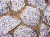 Texture of wall made from big size granite