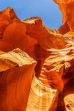 Sandstone formations in Antelope Canyon near the Page,