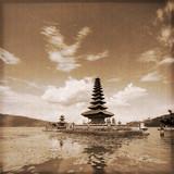 Bali - Ulun Danu Temple (Old photo effect)