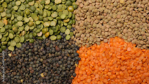 variety of cereal and lentils