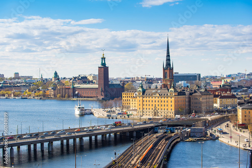 Cityscape of Stockholm old town in Sweden