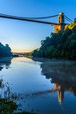 Bristol suspension bridge with reflection from river Avon