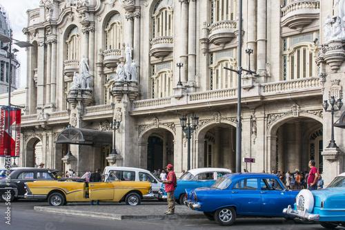 "Aluminium Havana Fassade des Grossen Theaters ""Garcia Lorca"" in Havanna."